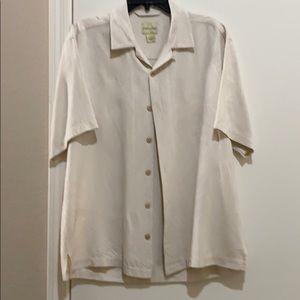 Men's Joseph and Feiss 100% Silk Shirt sz Lg